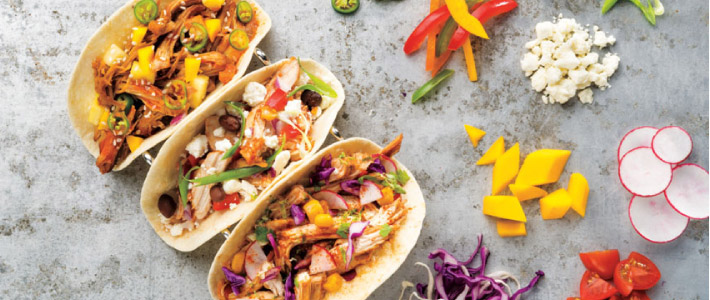 Pulled Chicken Tacos 3-Ways