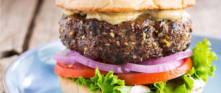 Seasoned Dijon Burger