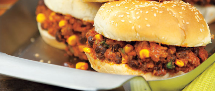 Slow Cooker South of the Border Sloppy Joes<br />
