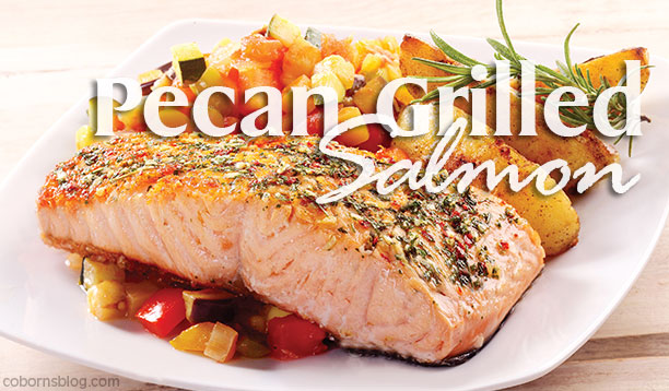 Weekly Ad Recipe Pecan Grilled Salmon www.cobornsblog.com