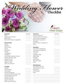 at home wedding checklist wedding flower checklist flowers ideas for review 27875